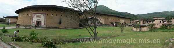 Click for larger view of Hakka earthen round houses