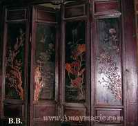 Carved wooden panel in Lin Zexu family home in old Fuzhou