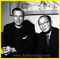 Lin Yutang and an American minister (I forget his name)