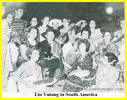 Lin Yutang was popular with youth during his South American visit