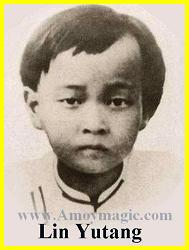 Lin Yutang as a child
