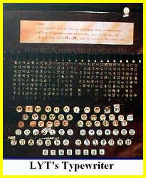 The keyboard of Lin Yutang's typewriter