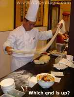 Master magician of pasta at Millennium Harbourview Hotel Xiamen