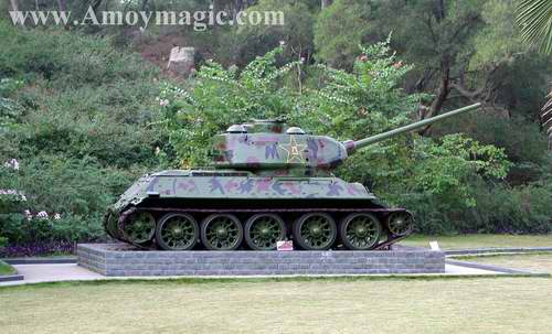 Tank on display at xiamen military museum