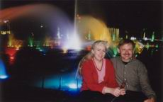 Bill and Sue in front of the dancing fountains of Yuandang Lake Xiamen