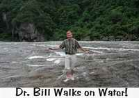 I can walk on water  too -- in Baishuiyang, at least!
