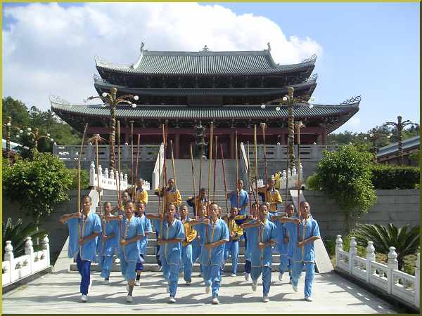 Kung Fu Monks in Putian's Southern Shaolin Temple