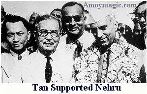 Tan Kah kee was a social reformer, and helped Nehru in India