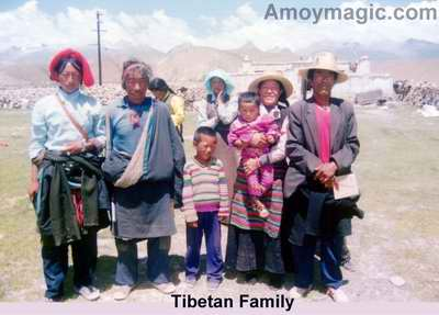 This Tibetan family lived on a high plain just south of the pass into Tibet from Qinghai