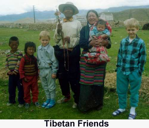 Shannon and Matthew made friends with this Tibetan family who lived literally in the middle of nowhere