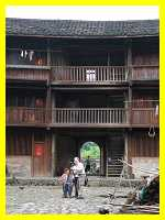 inside a three-storey Hakka round house