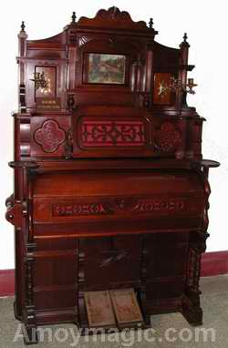 an organ at the Gulangyu Organ Museum