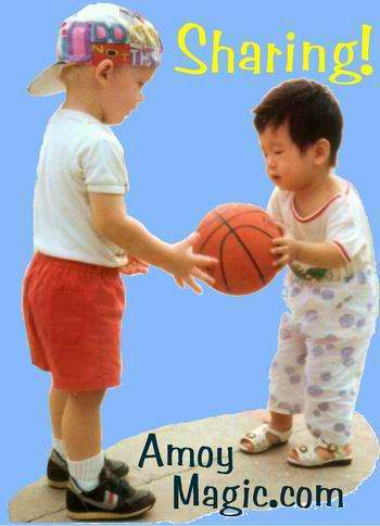 Matthew, our youngest son, in 1990, with little Xiamen friend.  Amoymagic--Guide to Xiamen and Fujian.  www.Amoymagic.com