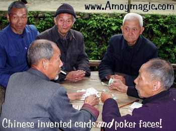 These Chinese peasant poker players invented the poker face!
